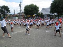 運動会練習全園児