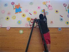壁画作成中
