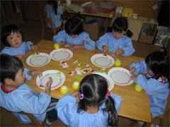 幼稚園祭製作つぼみ組