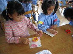 幼稚園祭準備