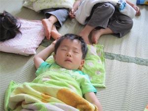 年少お昼寝